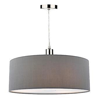 Cilindrische 60cm Easy Fit Hanglamp Leigrijs