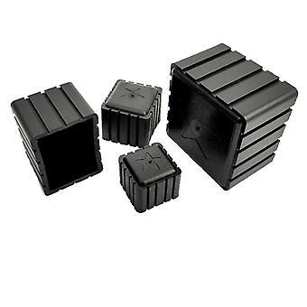 30x30mm Square Rubber Chair Leg Cover Socks Feet Floor Protector Caps