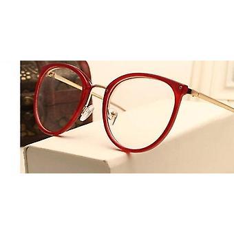 Optiset läpinäkyvät kirkkaat linssit Naisten lasit