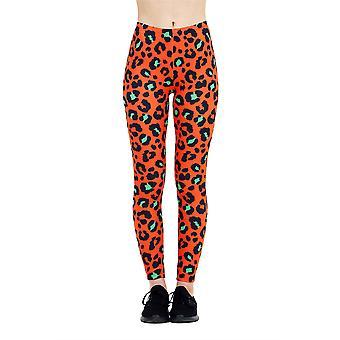 Kukubird Leopard Leggings Orange