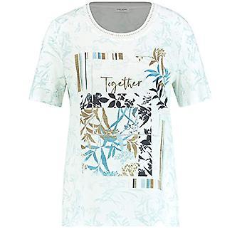 Gerry Weber 370309 T-Shirt, Ecru Limonade Aqua Druck, 44 Donna(2)