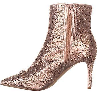 INC International Concepts Womens IgnaciaF Fabric Pointed Toe Ankle Fashion Boots