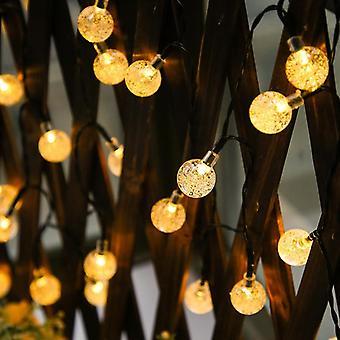 Vedenpitävä keiju Garland Kristalli pallo Led String Flash Light