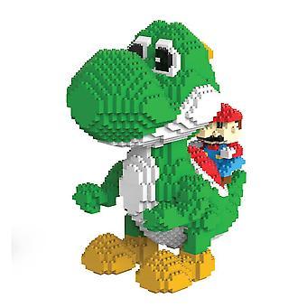 New Yoshi Super Martio Building Blocks Puzzle Micro 3d Figures Educational Brick Toys Green ES7530