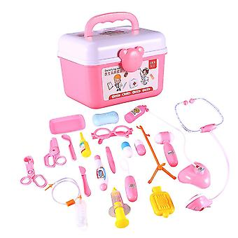 ピンク20pcsドクターキットおもちゃ子供のふりを教室学校dt3278のためのおもちゃのおもちゃのおもちゃをプレイ