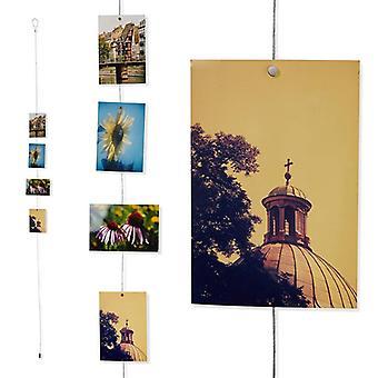 Portafotos Metálico Con 12 Imanes