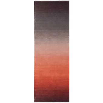 Ombre Wool Runner Rugs In Rust Red