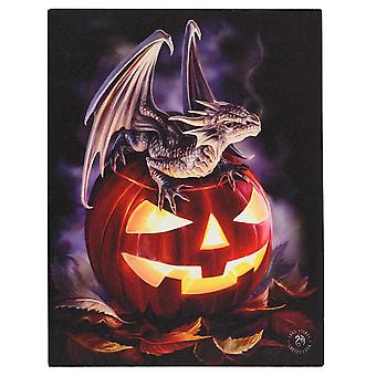 19 x 25cm Trick or Treat Canvas Plaque By Anne Stokes