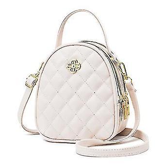 New Handbag 2021 New Fashion One-shoulder Messenger Small Bag(White)