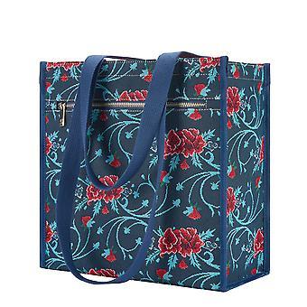 فريدا كاهلو القرنفل حقيبة المتسوق | نسيج السيدات حقيبة الكتف | متجر فكارن