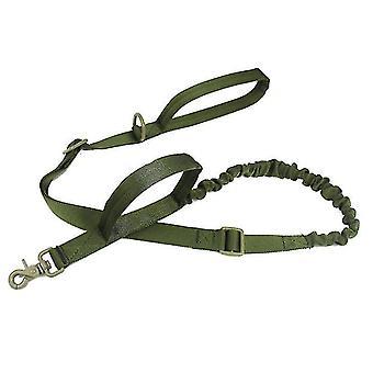 Ulkona nailonkoiran talutushihna, sotilasfani taktinen koiran koulutusvyö (vihreä)