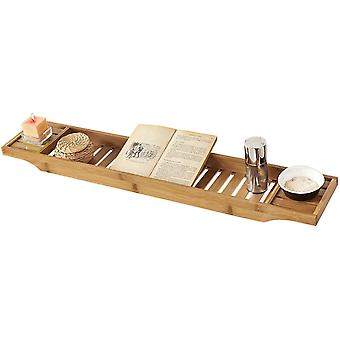 SoBuy bambú bañera puente jabón estante del almacenaje, FRG212-N
