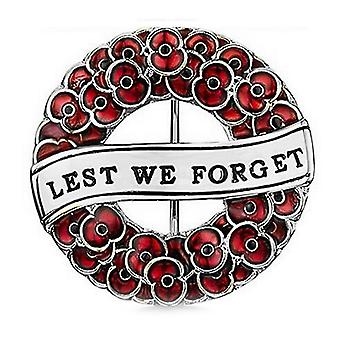 Ladies Brooch Crimson Painted Poppy Corsage British Commemorative Lest We Forget Brooch Pin