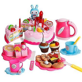 Gâteau de simulation de jeu pour enfants ensemble avec des lumières gâteau d'anniversaire l'après-midi thé collations enfants