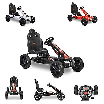 Moni Kids Gokart Pedal Car Monte Carlo Freio EVA Pneus plásticos de 3 anos