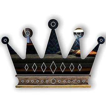 Gem Stones Crown Engraved Acrylic Mirror