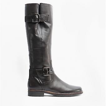 Gabor Nevada Ladies Leather Tall Boots Espresso