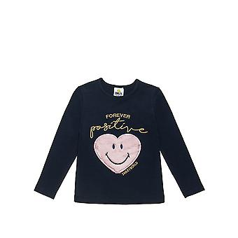 Alouette Girls' Smiley Blouse With Embroidery And Fur Heart