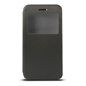 Housse de téléphone Folio avec fenêtre Iphone 6 Plus Noir