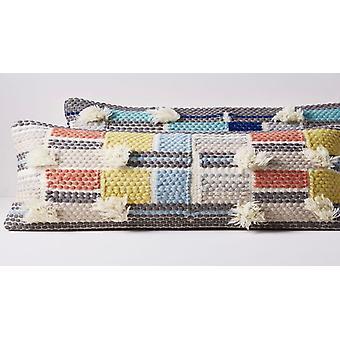 Spura Home Apollo Multi Color Block Contemporary 14x35 Pillow Cushion