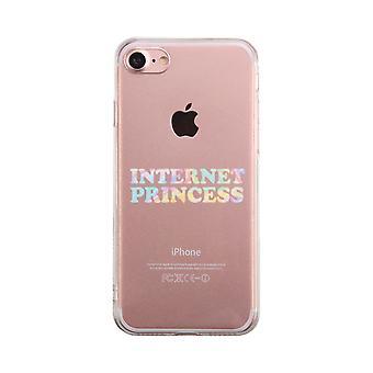 Интернет принцесса прозрачный телефон случае мило ясно Phonecase