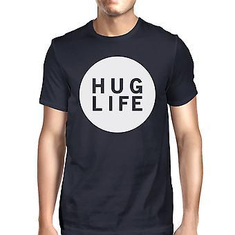 Hug Life Men's Navy T-shirt Short Sleeve Life Quote Graphic Tee