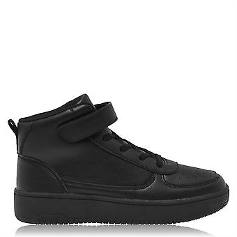 Fabric Boys Via Child Hi Tops Trainers Sneakers Sports Shoes Touch Close Comfort