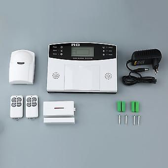Gsm LCD اللاسلكية 433 ذكي صوت لص جهاز إنذار المنزل الذكي