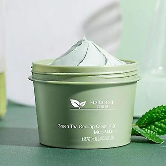 Thé vert Nettoyage de la peau Boue Soins du visage Rétrécir les pores Éliminer les points noirs