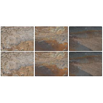Pimpernel Earth Slate Design Placemats Set of 6