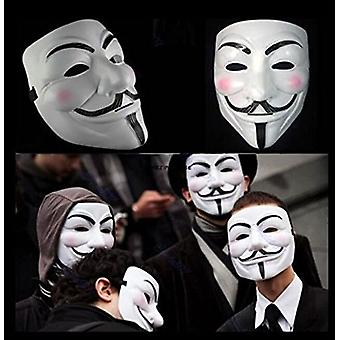 2015 New V for Vendetta mask with eyeliner Nostril Anonymous Guy Fawkes Fancy Adult Costume Accessories Halloween mask