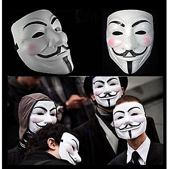 Nowy V 2015 dla Vendetta maska z eyeliner nozdrza anonimowy Guy Fawkes fantazyjne dorosłych kostium akcesoria Halloween maski
