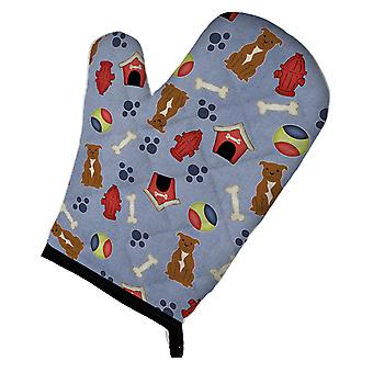 Dog House Collection Staffordshire Bull Terrier Brown Oven Mitt