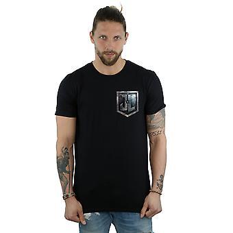 DC Comics Justice League Movie bouclier fausse poche T-Shirt homme