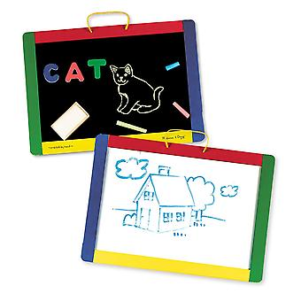 Melissa & Doug Chalkboard/Dry Erase Board