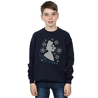 Disney Princess Boys Belle Winter Silhouette Sweatshirt