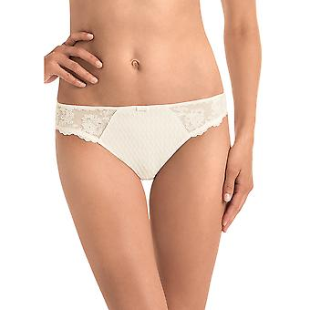 Rosa Faia 1367-612 Women's Charlize Crystal Off-White Lace Panty Thong