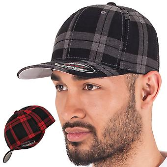 Flexfit TARTAN PLAID stretchable flannel Cap