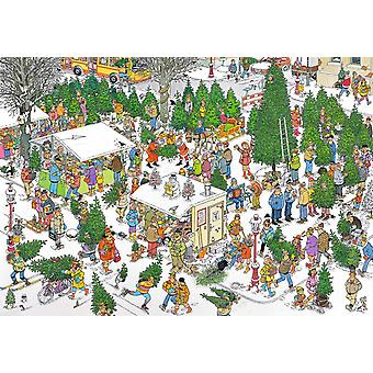 Jan Van Haasteren Christmas Tree markedet Jigsaw Puzzle (2000 stykker)