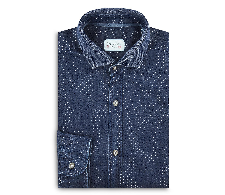 Fabio Giovanni Dimonte Shirt - Crafted in Italian Stonewashed Cotton Denim, High Quality Shirt