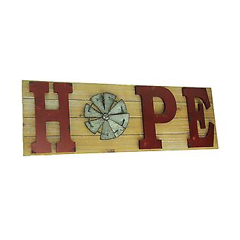 Distressed Look Holiday Word Sign Windmill Wall Hanging