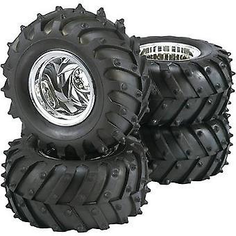 Reely 1:10 Monster truck wielen trekker 5-spaaks chroom 4 PC('s)