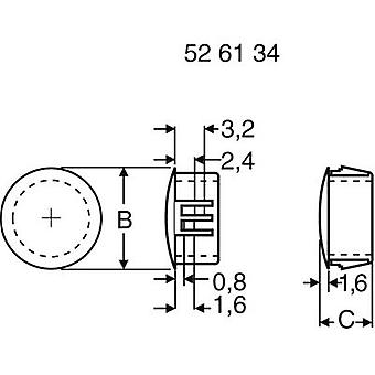 Dispositivo di fissaggio PB 430 2674 bianco (Ø x L) 19,8 x 10,3 mm