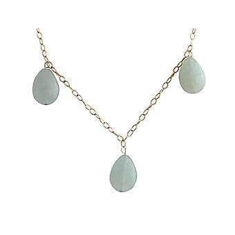 Gemshine-kvinner-halskjede-gullbelagt-Aquamarine-drop-blå-grønn