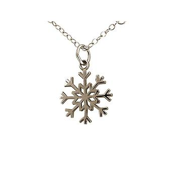 Lady chain - necklace - pendants - snowflake - 925 Silver - 1.5 cm