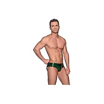 Westward Bound Briefs With Stripe Front P.S Green With Black Trim