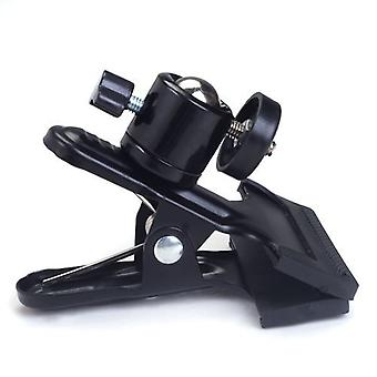 Photography Equipment: Tripod Black Clamp Multi-function Clamp with Ball Head | For Flash | Black