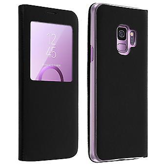 Smart view Akkuna Näpsäyttää tapauksessa Samsung Galaxy S9, slim kansi - musta