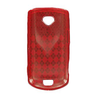 5 Pack -OffWire Diamond Silicone Gel Case for Samsung Gem SCH-i100 - Red