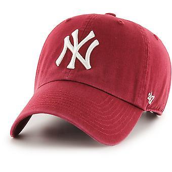 47 Brand Adjustable Cap - CLEAN UP New York Yankees cardinal
